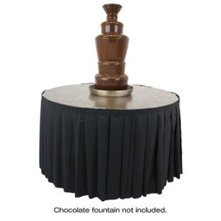 """Buffet Enhancements Skirting for 48"""" Chocolate Fountain Table"""