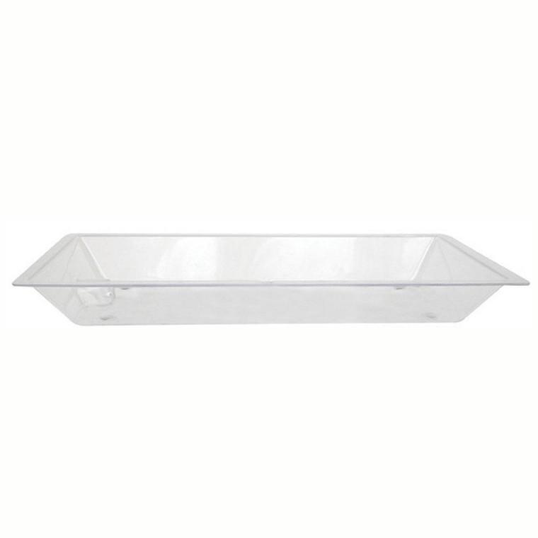"Buffet Enhancements Ice Display Tray, Acrylic Tray With Drain, Medium, 36"" X 24"""