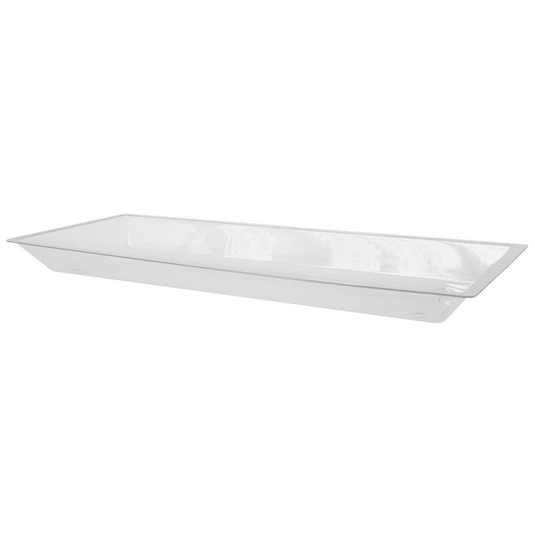 """Buffet Enhancements Ice Display Tray, Acrylic Tray With Drain, Large, 56"""" X 24"""""""