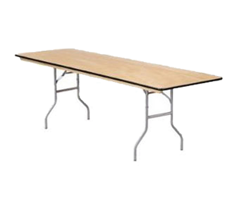 Buffet Enhancements Table, Folding, Rectangle, 96 X 30 in, Sealed Plywood Top, Minimum Quantity 10