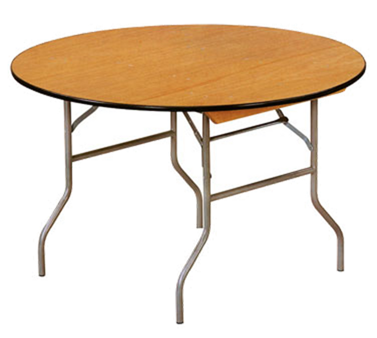 Buffet Enhancements Table, Folding, Round, 48 in, Sealed Plywood Top, Minimum Quantity 10