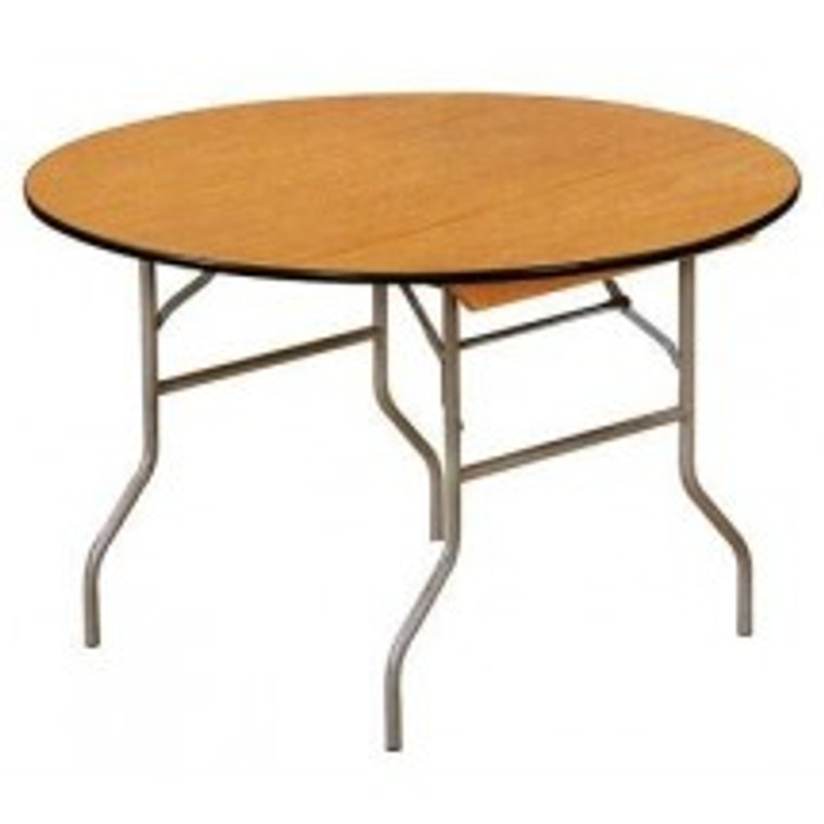 Buffet Enhancements Table, Folding, Round, 60 in., Sealed Plywood Top, Minimum Quantity 10