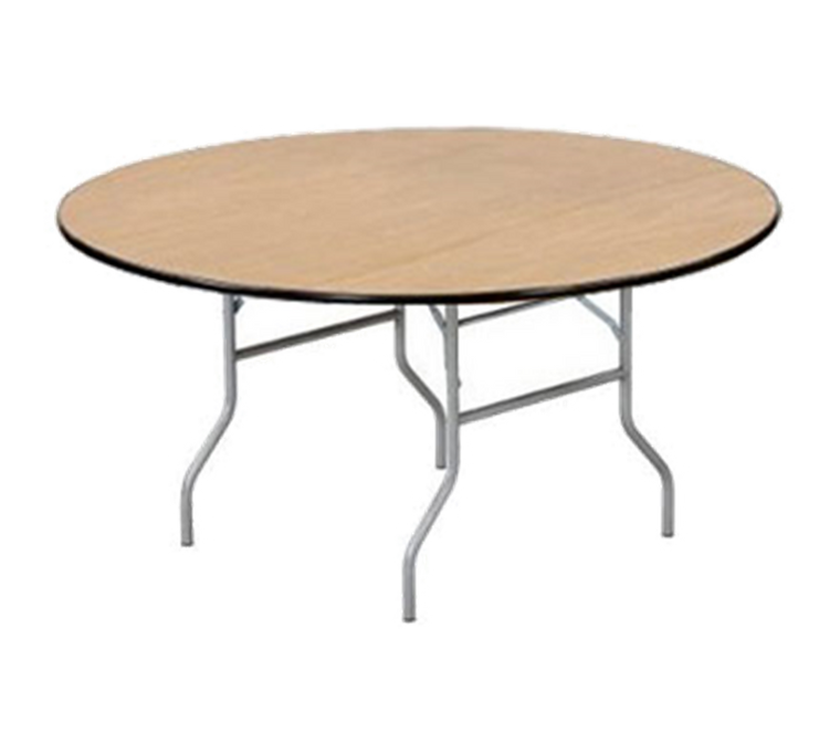 Buffet Enhancements Table, Folding, Round, 66 in, Sealed Plywood Top, Minimum Quantity 10
