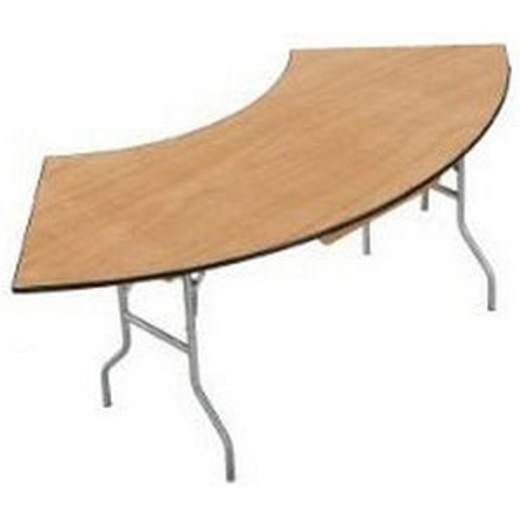Buffet Enhancements Table, Folding, Serpentine, 60 X 30 in, Sealed Plywood Top, Minimum Quantity 10