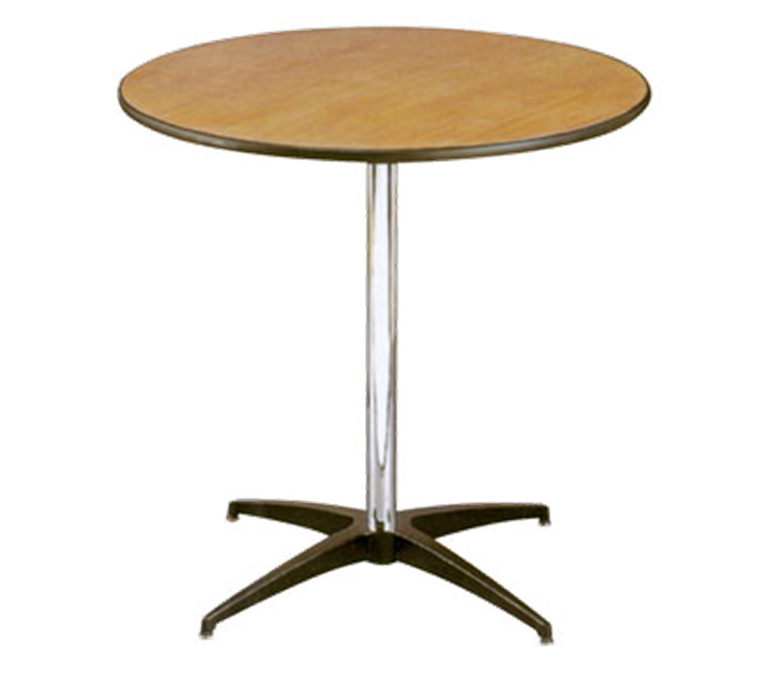 Buffet Enhancements Table, Pedestal, 30 in Round, Sealed Plywood Top, 30 in High, Minimum Quantity 10