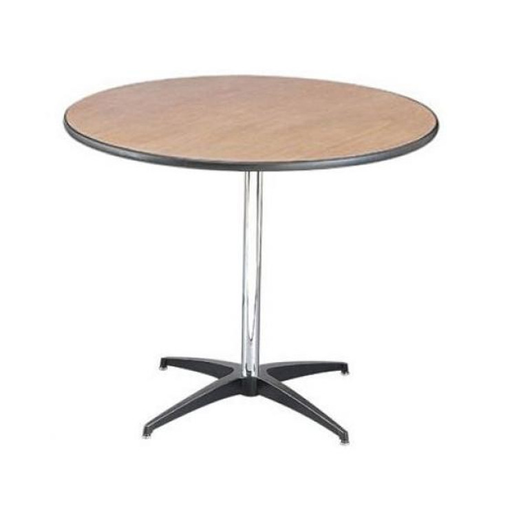 Buffet Enhancements Table, Pedestal, 36 in Round, Sealed Plywood Top, 30 in High, Minimum Quantity 10
