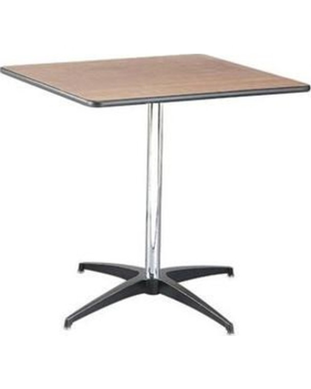 Buffet Enhancements Table, Pedestal, 30 in Square, Sealed Plywood Top, 30 in High, Minimum Quanity 10