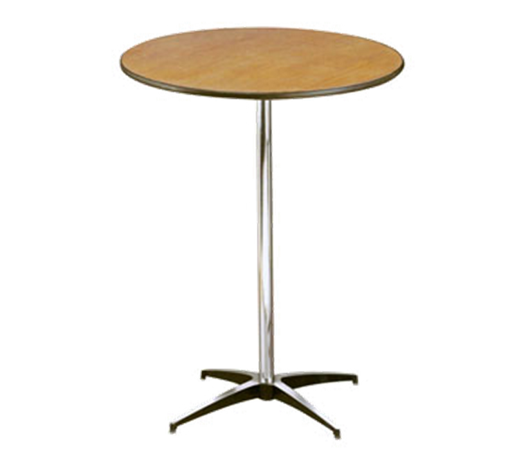 Buffet Enhancements Table, Pedestal, 30 in Round, Sealed Plywood Top, 42 in High, Minimum Quantity 10
