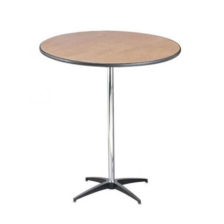 Buffet Enhancements Table, Pedestal, 36 in Round, Sealed Plywood Top, 42 in High, Minimum Quantity 10