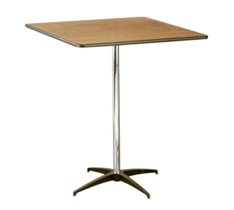 Buffet Enhancements Table, Pedestal, 30 in Square, Sealed Plywood Top, 42 in High, Minimum Quanity 10