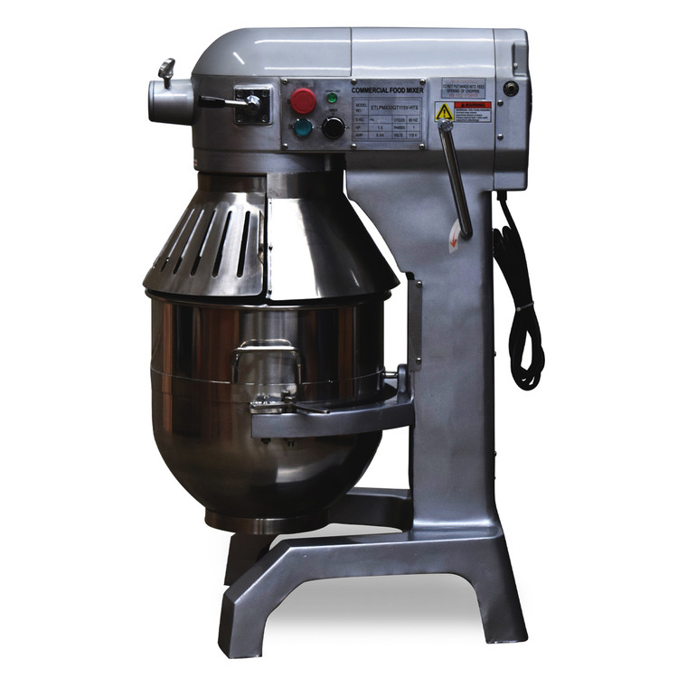 1200W 30Qt Commercial Planetary Mixer with Safety Guard, 3 speeds, 115V/1Ph/60hz, Side View