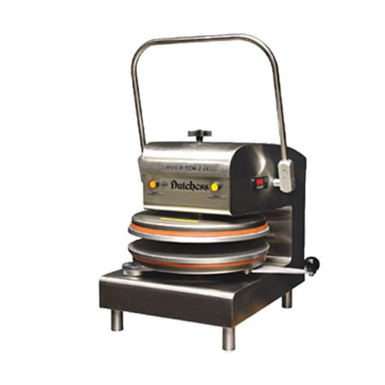 "Dutchess DUT/D-TXM-2-18 Dual Heat 18"" Round Platen, Manual Tortilla/Pizza Press 220V"