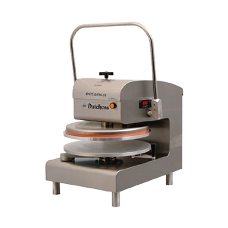 "Dutchess DUT/DXM-SS Top Heated 18"" Round Platen, Manual Pizza Press (Stainless Steel Finish) 120V"