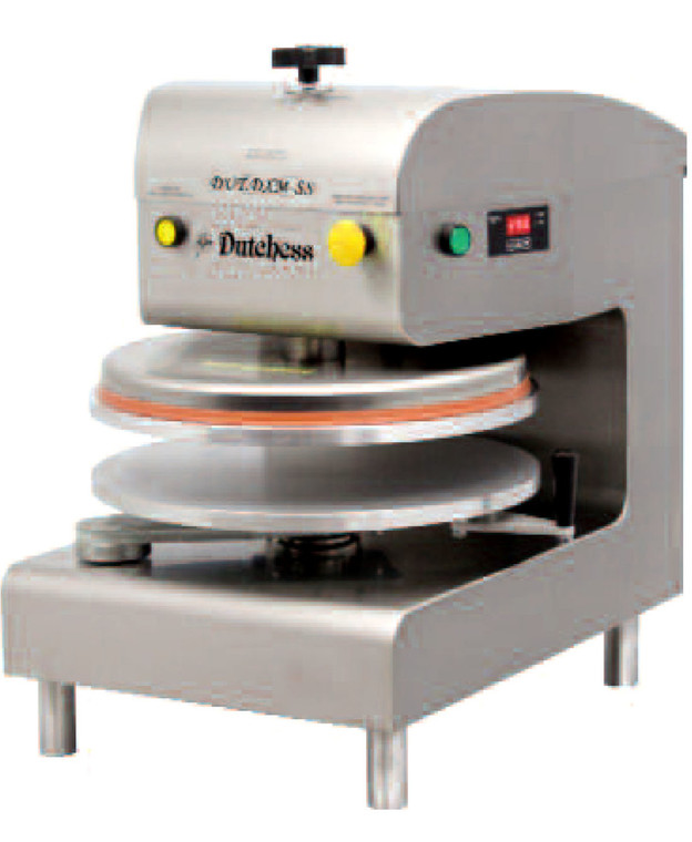 """Dutchess DUT/DXE-SS Top Heated 18"""" Round Platen, Auto-Electric Pizza Press (Stainless Steel Finish) 120V"""