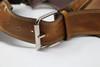 El Milagro Leather Utility Belt Bag strap close up