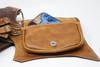 El Milagro Leather Utility Belt Bag pocket with contents