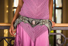 El Milagro Leather Utility Belt Bag lifestyle shot with model