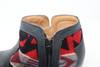 Women's Black & Wool Handmade Leather Booties