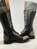 Women's Tall Gunslinger boots Black and Gray front to front