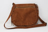 Brown Leather Hand Stitched Purse Back View.