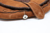 Brown Leather Hand Stitched Purse  clasp