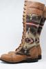 Women's Tall Beige & Pendleton Wool Handmade Leather Boots *Gunslinger*