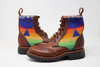 Women's Brown & Wool Boots Handmade Leather Boots - Overall sapphire