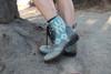 Women's Gray & Wool Handmade Leather Boots