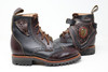 Women's Black and Dark Brown Handmade Leather Boots *Gunslinger*