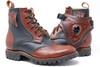 MEN'S Black and Brown Handmade Leather Boots *Gunslinger*