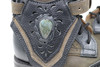 Women's Green and Black Handmade Leather Boots *Gunslinger*