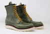 Classic Moc Toe Leather Boots - Green