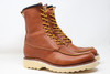 Classic Moc Toe Leather Boots - Brown