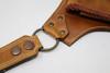 leather Utility Belt Bag strap close up