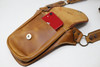 leather Utility Belt Bag contents in pocket