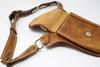 leather Utility Belt Bag pocket side view