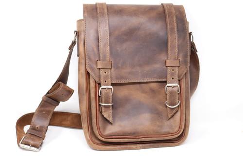 Leather Over the Shoulder Bag Front of bag