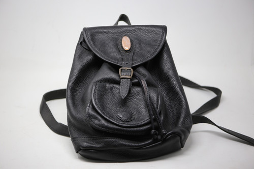 Custom Stone and Leather Backpack