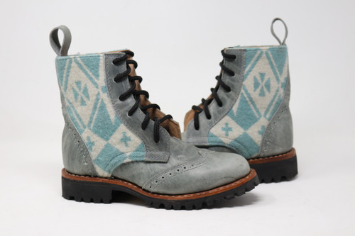 Women's Gray and Wool Boots