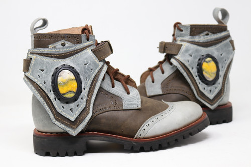 Green and Gray MEN'S Gunslinger Boots