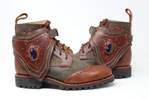 Green and Brown MEN'S Gunslinger Boots