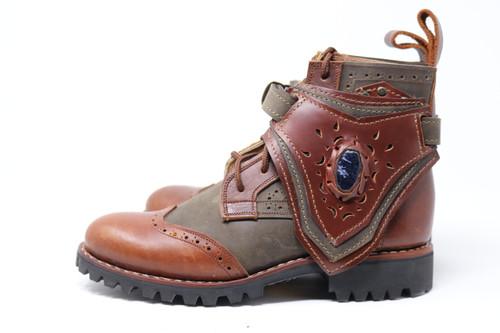 Green and Brown MEN'S Gunslinger Boots