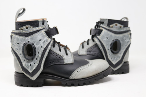 Black and Gray MEN'S Gunslinger Boots