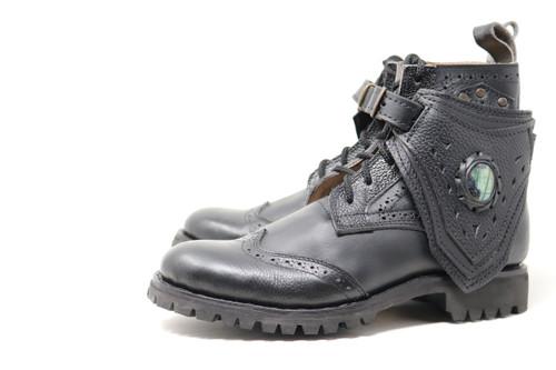 MEN'S Black Handmade Leather Boots *Gunslinger*