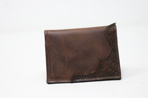 Small Folding Leather Wallet - Multiple Colors