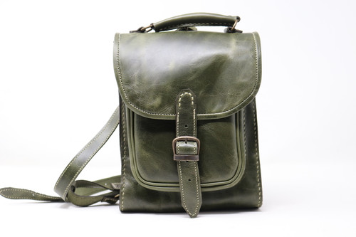 Leather Backpack - Green