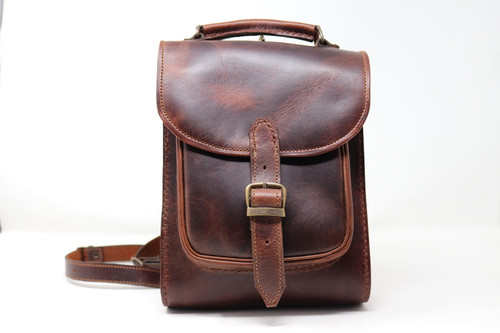 Leather Backpack - Dark Brown