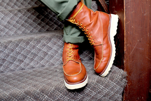 Boots, moc toe, mens, womens, unisex, oil & slip resistant soles, white soles, high top boots, custom boots, custom boot sizes, made to order boots, handmade leather boots, work boots, el gato montes