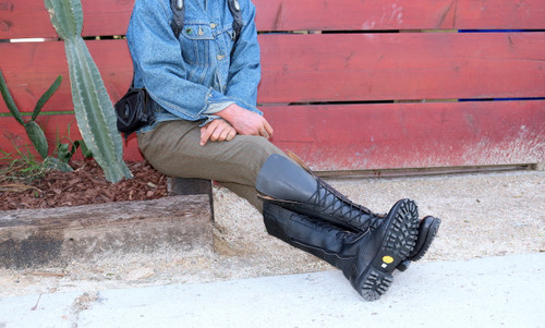 Tall Black Leather Boots - Made to Order