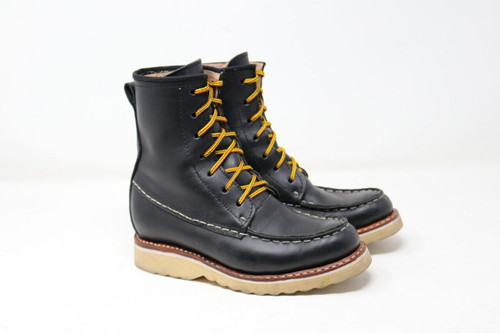 Boots, moc toe, black, negro, mens, womens, unisex, oil & slip resistant soles, white soles, high top boots, custom boots, custom boot sizes, made to order boots, handmade leather boots, work boots, el gato montes11